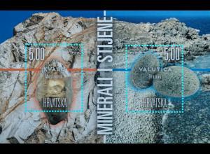 Kroatien Croatia 2018 Block 71 Mineralien Steine Natur Wissenschaft