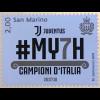 San Marino 2018 Neuheit Italienischer Fußballmeister Juventus Turin Ballsport