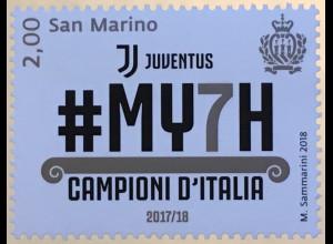 San Marino 2018 Nr. 2763 Italienischer Fußballmeister Juventus Turin Ballsport