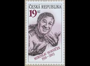 Tschechische Republik 2018 Nr 1004 100. Geburtstag von Miroslav Horní∑ek
