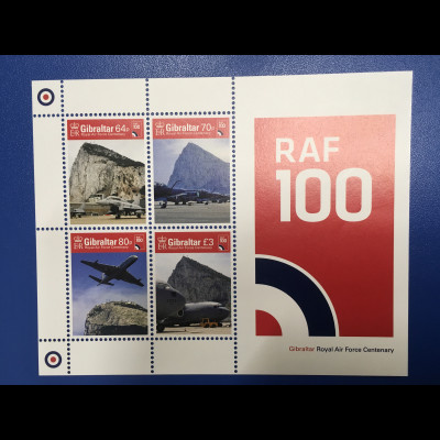 Gibraltar 2018 Block 132 100 Jahr Royal Air Force Luftstreitkräfte Luftwaffe
