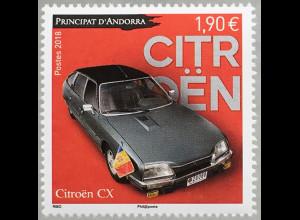 Andorra französisch 2018 Nr. 842 Automobile Citroën CX (1974) Oldtimer Kultauto