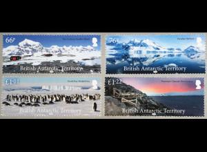 Britische Antarktis BAT 2018 Nr. 801-04 Landschaften Küsten Natur Tourismus