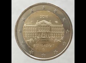 Deutschland 2019 2 Euro Gedenkmünze 70 Jahre Bundesrat stempelglanz ST