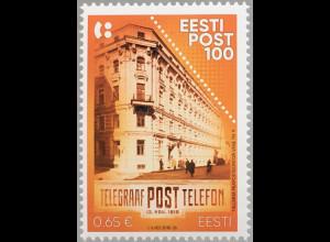 Estland EESTI 2018 Nr. 935 100 Jahre estinische Post Postverkehr Postgebäude