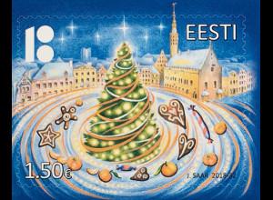 Estland EESTI 2018 Nr. 941 Weihnachten Christmas Natale Christbaum Fest