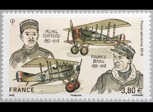 Frankreich France 2018 Nr 7218 Todestag von Maurice Boyau und Michel Coiffard
