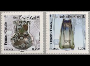 Frankreich France 2018 Nr 7193-94 Glaskunst Jugendstil Paralellausgabe Kroatien