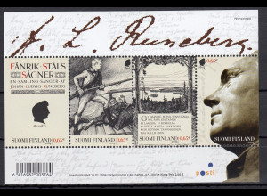 Finnland 2004 Block Nr. 32 200. Geburtstag von Johan Ludvig Runeberg