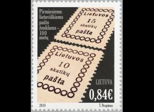 Litauen Lithuania 2018 Nr 1299 100 Jahre litauische Briefmarken