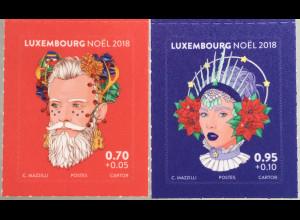Luxemburg 2018 Neuheit Weihnachtsmarken Nikolaus Weihnachtsmotiv Natale