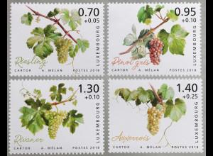 Luxemburg 2018 Neuheit Wohlfahrtsmarken Moselregion Weintrauben Weinanbau