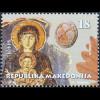 Makedonien Macedonia 2018 Neuheit Weihnachten Gemälde Maria mit Jesuskind