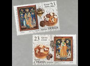 Serbien Serbia 2018 Nr. 840-41 Slava Feier des Familienpatrontag