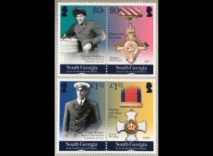 Süd Georgien und Südl. Sandwichinseln 2018 Nr. 728-31 100 Jahre Ende 1 Weltkrieg