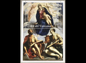 Vatikan Cittá del Vaticano 2018 Block 57 Tintoretto Jacopo italienischer Maler