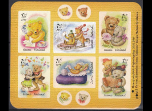 Finnland 2014 Block Nr. 80 Valentinstag Teddybär Briefmarke