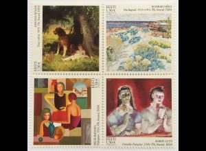 Estland EESTI 2018 Nr. 936-39 Gemälde Klassische Malerei Kunst Aquarelle