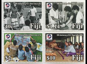 Fidschi Inseln FIJI 2018 Neuheit 50 J. Friedenskorps Independent federal agency