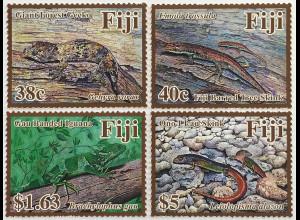 Fidschi Inseln FIJI 2018 Neuheit Reptilien Fauna Tiere Echsen Leguan