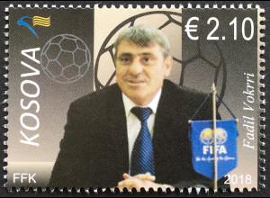 Kosovo 2018 Nr. 443 Fußballlegende Fadil Vokrri Ballsport Fußballer