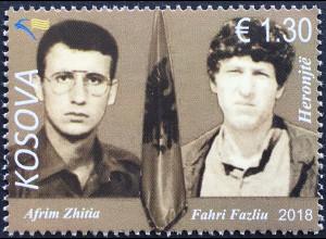 Kosovo 2018 Nr. 446 Helden Afrim Zhifia & Fahri Fazilu