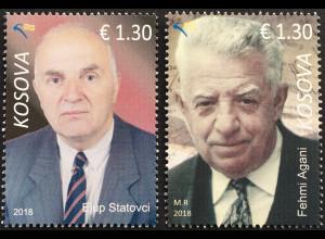 Kosovo 2018 Nr. 441-42 Herausragende Persönlichkeiten Statovci Agani