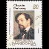 Makedonien Macedonia 2018 Neuheit Debussy Achille Claude französischer Komponist