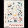 Niederlande 2018 Neuheit Dezembermarken Schlittschuhe Geschenke Weihnacht