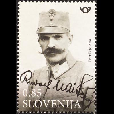 Slowenien Slovenia 2018 Neuheit General Maister Soldat des 1. Weltkrieges