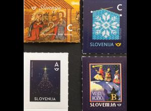Slowenien Slovenia 2018 Neuheit Weihnachtsmarken aus Bogen Natale Christmas
