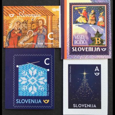 Slowenien Slovenia 2018 Neuheit Weihnachtsmarken aus MH Natale Christmas