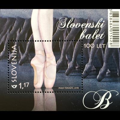 Slowenien Slovenia 2018 Neuheit 100 Jahre slowenisches Ballett Tanzkunst