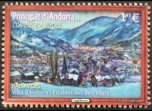 Andorra spanisch 2018 Nr. 472 Escaldes dels Vilars Gemälde Kunst