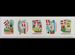 Dänemark 2019 Nr. 1963-67 800 Jahre dänische Flagge Dannebrogs