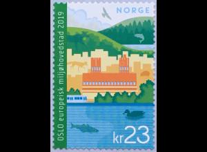 Norwegen 2019 Neuheit Oslo - grüne europäische Hauptstadt Tourismus