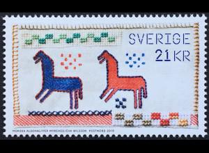 Schweden Sverige 2019 Nr. 3268 Handarbeit Stickmuster Bogenmarke