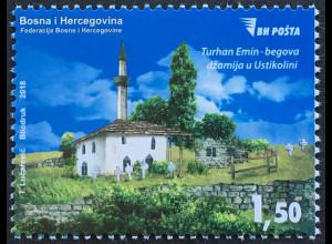 Bosnien Herzegowina 2018 Neuheit Freimarke Moschee Ustikolina