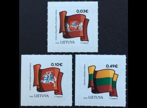 Litauen Lithuania 2018 Nr 1300-02 Freimarken Flaggen