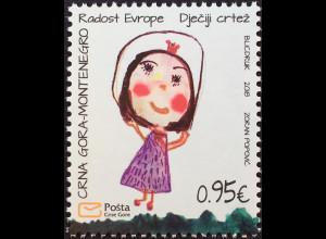 Montenegro 2018 Nr. 424 Freude Europas Kinderzeichnung Kunst Kindermalerei