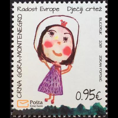 Montenegro 2018 Neuheit Freude Europas Kinderzeichnung Kunst Kindermalerei