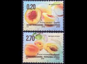 Bosnien Herzegowina Serbische Republik 2018 Neuheit Freimarkenserie Früchte Obst
