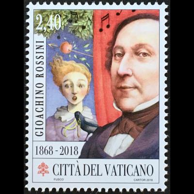 Vatikan Cittá del Vaticano 2018 Nr. 1945 150. Todestag Gioachino Rossini Musik