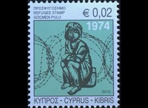 Zypern griechisch Cyprus 2018 Neuheit Zwangszuschlagsmarken Flüchtlingsmarken