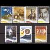 Griechenland 2008 Michel Nr. 2469-75 Jahrestage und Ereignisse