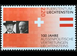 Liechtenstein 2019 Neuheit 100 Jahre aussenpolitische Vertretung Liechtensteins