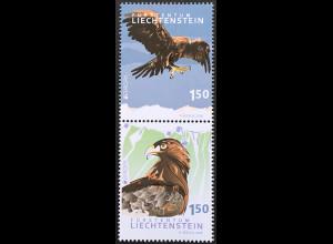 Liechtenstein 2019 Neuheit Europamarken Nationalvogelarten Steinadler Vogelmotiv