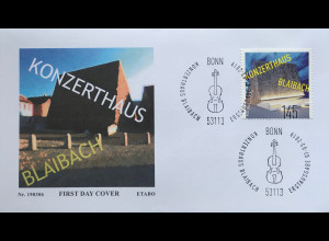 Bund BRD Ersttagsbrief FDC Nr 3451 1. März 2019 5 Jahre Konzerthaus Blaibach