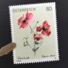 Österreich 2019 Neuheit Blumen Flora Klatschmohn Blumenmotiv Gemälde