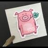 Schweiz 2019 Neuheit Glücksschwein Sondermarke auf besonders flauschigem Papier